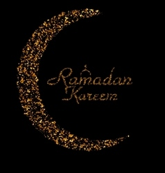 Ramadan kareem background with moon and vector