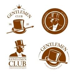 Retro gentlemen club emblems labels badges vector