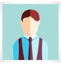 Schoolboy flat icon vector