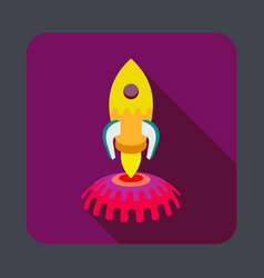 Space rocket concept background cartoon style vector