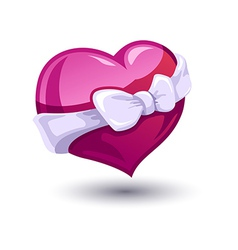 Valentine heart with a bowknot vector image