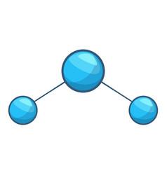 water molecule icon cartoon style vector image vector image