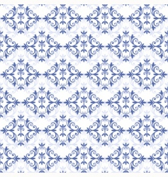white blue seamless pattern vector image vector image
