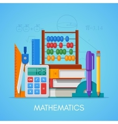 Math science education concept poster in vector