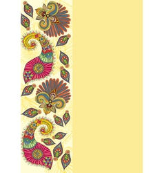 Doodle flowers and paisley vector