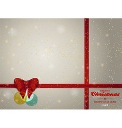 Christmas background copy space with bunting bow vector