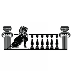 Architectural columns greek style vector
