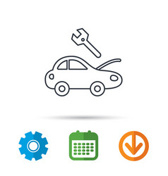 car service icon transport repair sign vector image