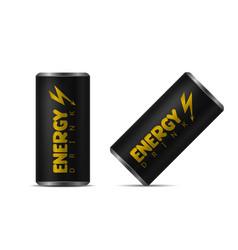 Energy drink aluminum can vector