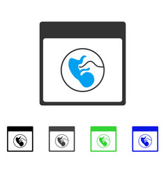Human embryo calendar page flat icon vector