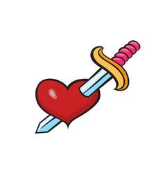 Pop art style heart sticker vector