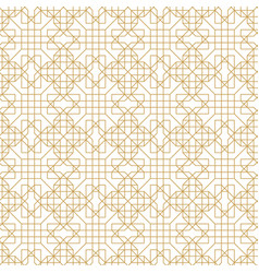 Abstract geometric seamless pattern with lines and vector