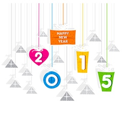 Creative new year 2015 greeting design vector