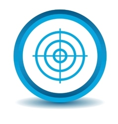 Aiming mark icon blue 3d vector