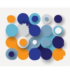 Circles flat background vector