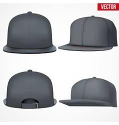 Set layout of male black rap cap vector