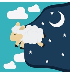 Rest and sheep icon design vector