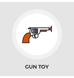 Gun toy flat icon vector