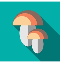 Two mushrooms icon in flat style vector