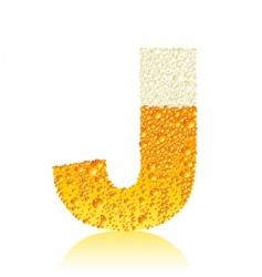 alphabet beer j vector image vector image