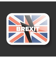 Brexit icon with uk flag vector
