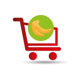 carry buying banana fruit icon graphic vector image