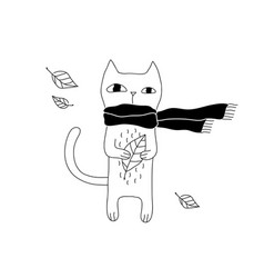 cartoon cat vector image