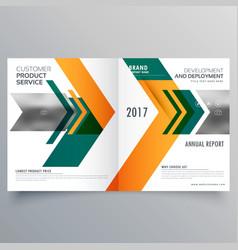 Creative arrow style business bifold brochure vector