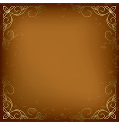 dark beige card with golden decor vector image