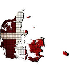 Denmark map with flag inside vector
