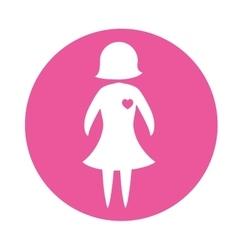 Emblem woman prevention heart vector