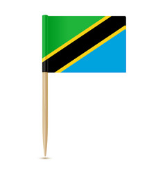flag of tanzania flag toothpick vector image vector image