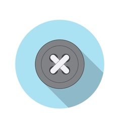 Flat design concept button icon with long sh vector
