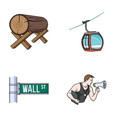 Forestry finance and other web icon in cartoon vector