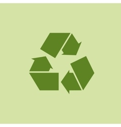 Green recycle sign or icon vector