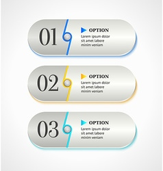 Horizontal gray options banners or buttons vector image vector image