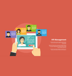 Human resource management concept vector