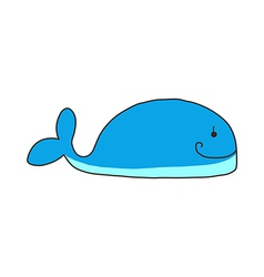 Icon whale vector