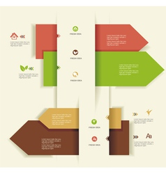 Modern Design templateUse for infographicsnumbered vector image vector image