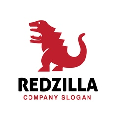 Red zilla Design vector image vector image