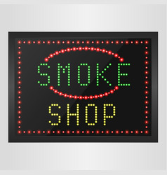 shining retro light banner of smoke a shop vector image