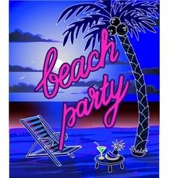 Summer beach lettring party flyer vector