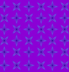 The geometric pattern of blue stars vector image