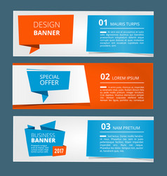 three horizontal banners with abstract modern vector image vector image