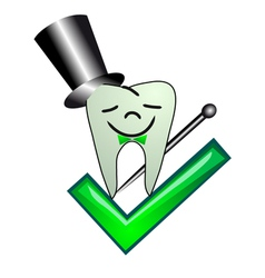 tooth and check vector image vector image