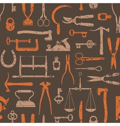 Vintage Tools And Instruments Pattern 2 vector image vector image