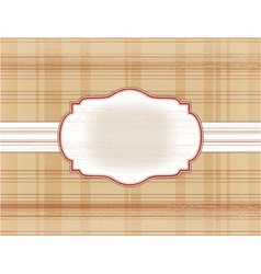 frame on the checkered background vector image