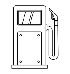 Gas station icon outline style vector
