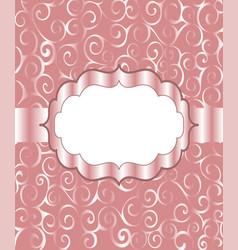 vintage frame background invitation ornament vector image