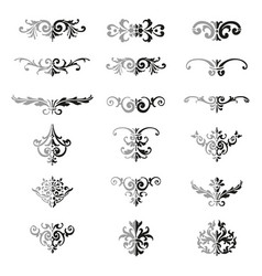 set of flourishes calligraphic elegant ornament vector image